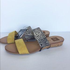 Dolce Vita DV Bailey Animal Print Sandal Slip On